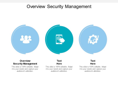 Overview Security Management Ppt PowerPoint Presentation Model Structure Cpb