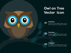 Owl On Tree Vector Icon Ppt PowerPoint Presentation Gallery Structure