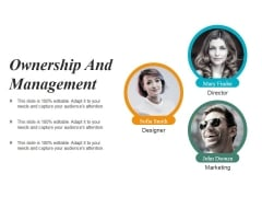 Ownership And Management Ppt PowerPoint Presentation Infographics Graphic Images