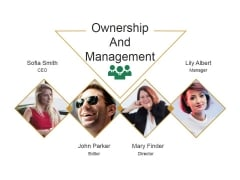 Ownership And Management Ppt PowerPoint Presentation Infographics Information
