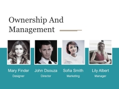 Ownership And Management Ppt PowerPoint Presentation Layouts Graphic Tips