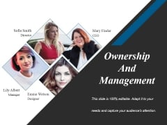 Ownership And Management Ppt PowerPoint Presentation Model Example
