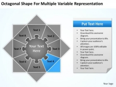 Octagonal Shape For Multiple Variable Representation Ppt Business Plan Form PowerPoint Slides
