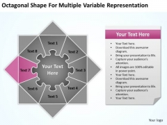 Octagonal Shape For Multiple Variable Representation Ppt Business Plan Service PowerPoint Slides