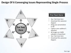 Of 6 Converging Issues Representing Single Process Cycle PowerPoint Slides