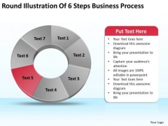 Of 6 Steps World Business PowerPoint Templates Process Plan Slides