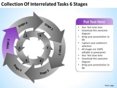 Of Interrelated Tasks 6 Stages Ppt Non Profit Business Plan Template PowerPoint Slides