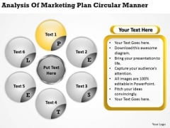 Of Marketing Plan Circular Manner Personal Business Template PowerPoint Templates