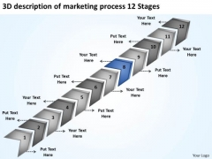 Of Marketing Process 12 Stages Non Profit Business Plan Template Free PowerPoint Slides