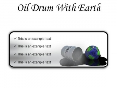 Oil Drum With Earth Industrial PowerPoint Presentation Slides R