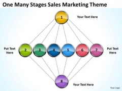 One Many Stages Sales Marketing Theme Ppt Business Plan Proposal PowerPoint Templates