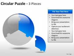 One Third Pie Chart PowerPoint Slides And Ppt Templates