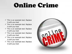Online Crime Internet PowerPoint Presentation Slides C