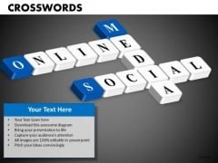 Online Social Media Crosswords PowerPoint Templates