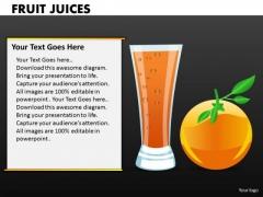 Orange Juices PowerPoint Templates And Oranges Ppt Slides