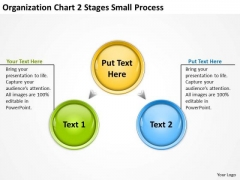 Organization Chart 2 Stages Small Process Ppt Business Plan Definition PowerPoint Slides