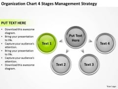Organization Chart 4 Stages Management Starategy Ppt Business Case Template PowerPoint Slides