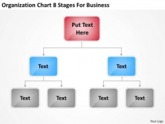 Organization Chart 8 Stages For Business Ppt Plan Outlines Free PowerPoint Templates