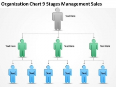 Organization Chart 9 Stages Management Sales Ppt Company Business Plan PowerPoint Slides