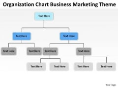 Organization Chart Business Marketing Theme Ppt Plans PowerPoint Templates