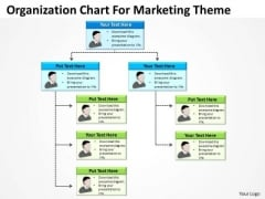 Organization Chart For Marketing Theme-ppt Business Plan PowerPoint Templates