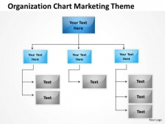 Organization Chart Marketing Theme Ppt Linear Flow Rate PowerPoint Slides