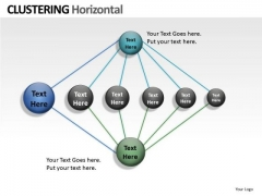 Organization Clustering Horizontal PowerPoint Slides And Ppt Diagram Templates