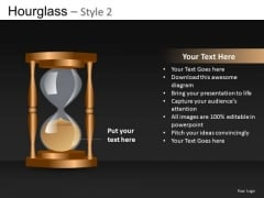Out Of Time Hourglass PowerPoint Image Clipart