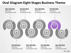 Oval Diagram Eight Stages Business Theme Ppt Build Plan PowerPoint Slides