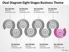 Oval Diagram Eight Stages Business Theme Ppt Plan Forms PowerPoint Slides