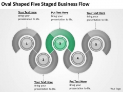 Oval Shaped Five Staged Business Flow Ppt Strategic Plans PowerPoint Templates
