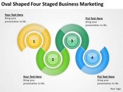 Oval Shaped Four Staged Business Marketing Ppt Plan PowerPoint Templates