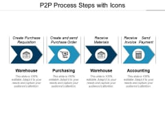 P2p Process Steps With Icons Ppt PowerPoint Presentation Ideas Master Slide