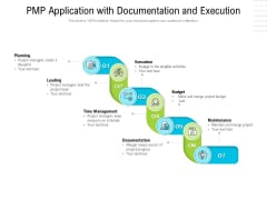 PMP Application With Documentation And Execution Ppt PowerPoint Presentation Pictures Background Image PDF