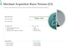 POS For Retail Transaction Merchant Acquisition Buyer Persona Inspiration PDF