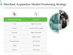 POS For Retail Transaction Merchant Acquisition Market Positioning Strategy Graphics PDF