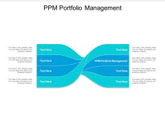 PPM Portfolio Management Ppt PowerPoint Presentation Background Images Cpb