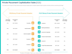 PPM Private Equity Private Placement Capitalization Table Ppt PowerPoint Presentation Infographic Template Model PDF