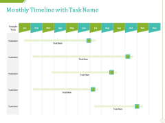 PP And E Valuation Methodology Monthly Timeline With Task Name Information PDF