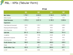 P And L Kpis Template 1 Ppt PowerPoint Presentation Infographics Professional