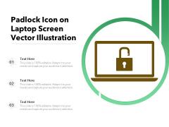 Padlock Icon On Laptop Screen Vector Illustration Ppt PowerPoint Presentation Portfolio
