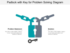 Padlock With Key For Problem Solving Diagram Ppt PowerPoint Presentation Summary Background Images