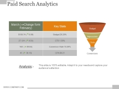 Paid Search Analytics Ppt PowerPoint Presentation Guidelines