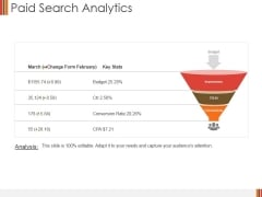 Paid Search Analytics Ppt PowerPoint Presentation Infographics Picture