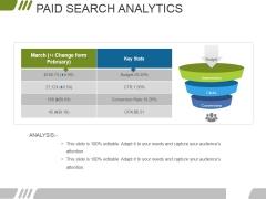 Paid Search Analytics Ppt PowerPoint Presentation Portfolio Ideas