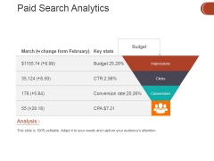 Paid Search Analytics Ppt PowerPoint Presentation Show Graphics Tutorials