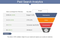 Paid Search Analytics Ppt PowerPoint Presentation Summary Infographic Template