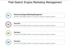 Paid Search Engine Marketing Management Ppt PowerPoint Presentation Outline Guidelines Cpb