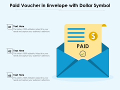Paid Voucher In Envelope With Dollar Symbol Ppt PowerPoint Presentation Outline Gridlines PDF