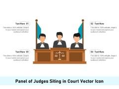 Panel Of Judges Siting In Court Vector Icon Ppt PowerPoint Presentation Gallery Slide Download PDF